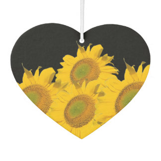 Bright Yellow Abstract Sunflowers