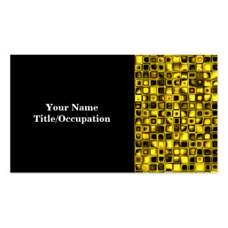 Bright Yellow And Black Textured Grid Pattern Pack Of Standard Business Cards