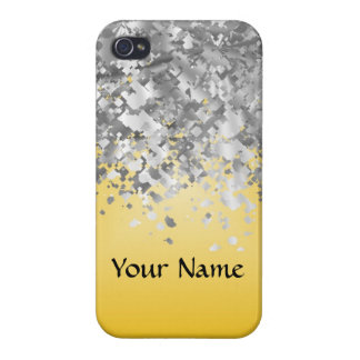 Bright yellow and faux glitter iPhone 4/4S cover