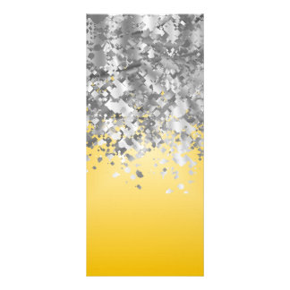 Bright yellow and faux glitter rack card