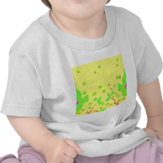 Bright Yellow and Green Spring Design Tee Shirts