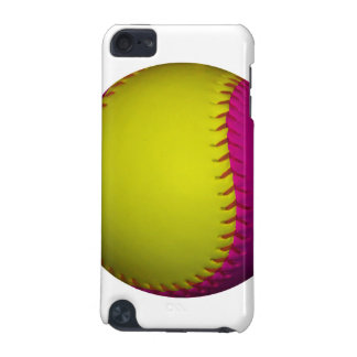 Bright Yellow and Pink Softball iPod Touch 5G Covers