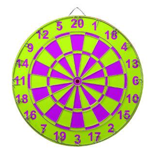 Bright Yellow and Purple Dartboard