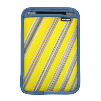 bright yellow and white diagonal striped pattern iPad mini sleeve