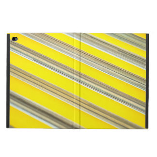 bright yellow and white diagonal striped pattern powis iPad air 2 case