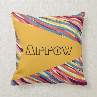 Bright Yellow Arrow Multicolored Cushion