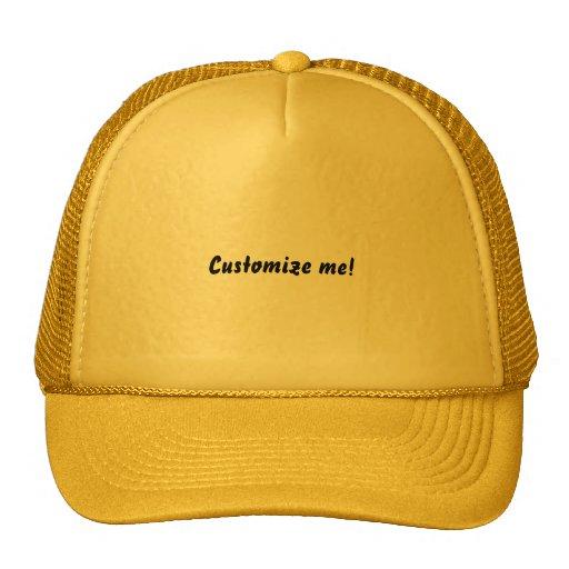 Bright yellow baseball hat