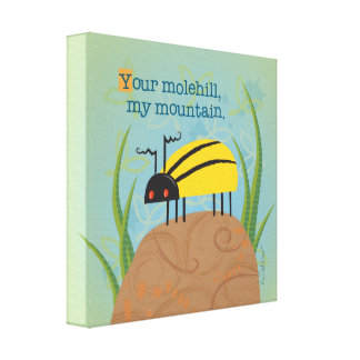 Bright Yellow Beetle Canvas Print