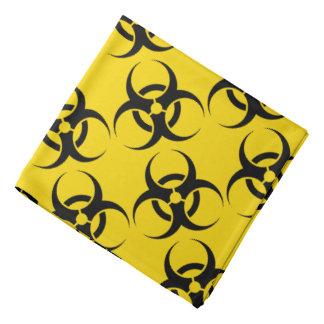 Bright Yellow Biohazard Symbol Bandana
