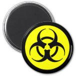 Bright Yellow Biohazard Symbol Magnet Magnet