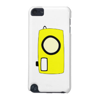 Bright Yellow Camera. On White. iPod Touch 5G Cover