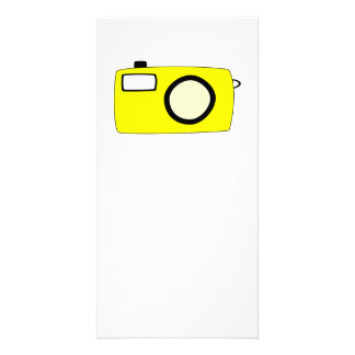 Bright Yellow Camera On White Photo Greeting Card
