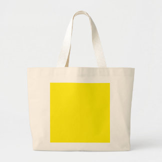 Bright Yellow Color Only Custom Design Products Tote Bags