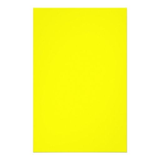Bright Yellow Color Only Custom Design Products Flyers
