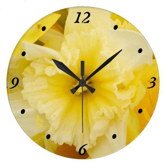 Bright Yellow Daffodils Clock