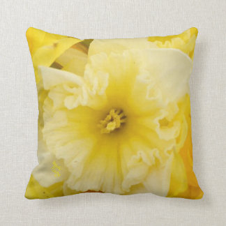 Bright Yellow Daffodils Cushion