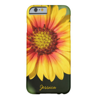 Bright yellow daisy, personalized iPhone 6 case Barely There iPhone 6 Case