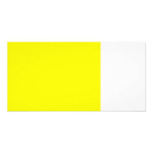 bright yellow DIY custom background template Custom Photo Card