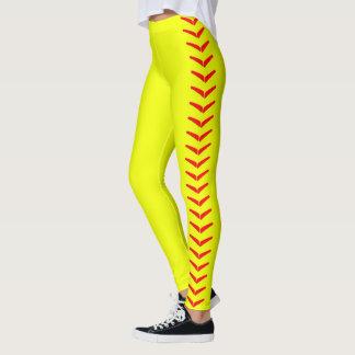 Bright Yellow Fastpitch Softball Leggings Pants