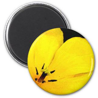 Bright Yellow Flower 6 Cm Round Magnet