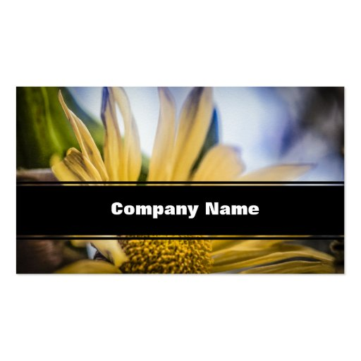 Bright Yellow Flower Business Card Template