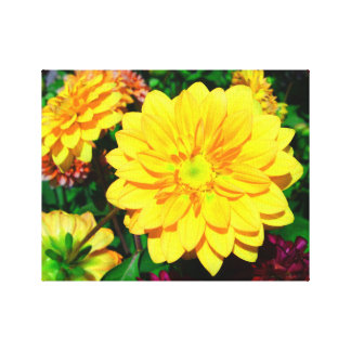 Bright Yellow Flower Canvas Canvas Prints