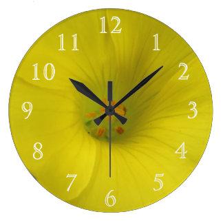 Bright Yellow Flower Clocks