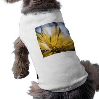Bright Yellow Flower Pet Tee Shirt