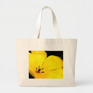 Bright Yellow Flower Jumbo Tote Bag