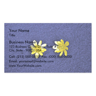 Bright Yellow Flowers Business Cards