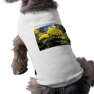 Bright Yellow Flowers Dog T Shirt