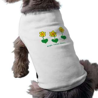 Bright Yellow Flowers Pet Clothes
