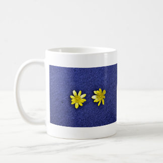 Bright Yellow Flowers Coffee Mugs