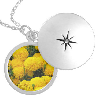 Bright Yellow Flowers on Necklace
