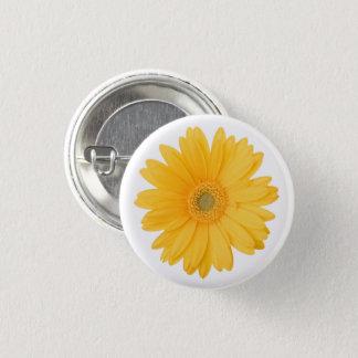 Bright Yellow Gerbera Daisy Flower 3 Cm Round Badge