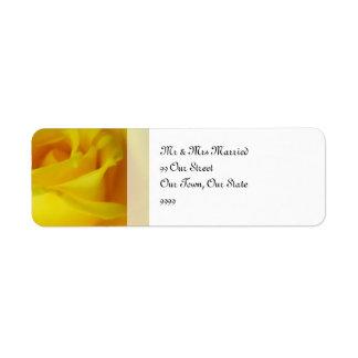 Bright Yellow Glowing Rose Wedding