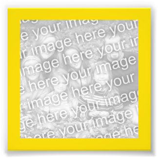 Bright Yellow Gold Frame Photo