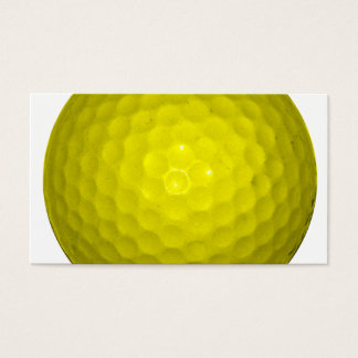 Bright Yellow Golf Ball Business Card