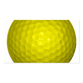 Bright Yellow Golf Ball Pack Of Standard Business Cards