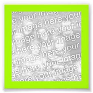 Bright Yellow Green Frame Photo Photographic Print