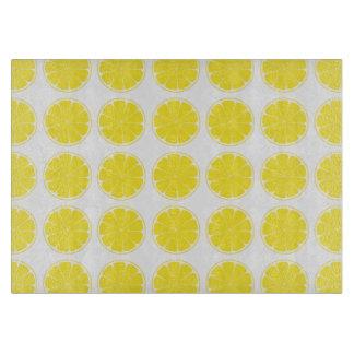 Bright Yellow Lemon Citrus Fruit Chopping Board
