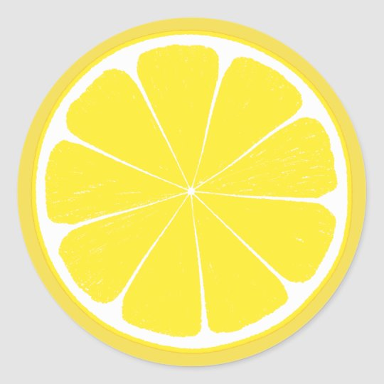 Bright Yellow Lemon Citrus Fruit Slice Design Classic