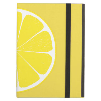 Bright Yellow Lemon Citrus Fruit Slice Design Cover For iPad Air