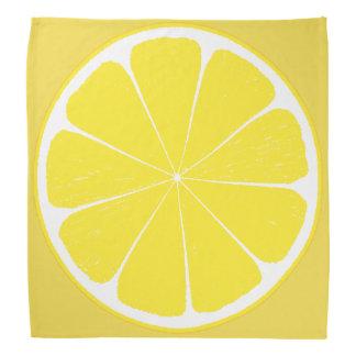 Bright Yellow Lemon Citrus Fruit Slice Design Do-rag