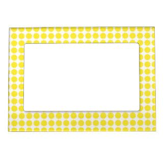 Bright Yellow Lemon Citrus Fruit Slice Design Magnetic Frame