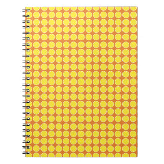 Bright Yellow Lemon Citrus Fruit Slice Design Notebook