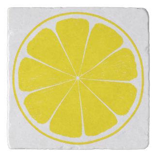Bright Yellow Lemon Citrus Fruit Slice Design Trivet