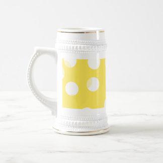 Bright yellow light yellow white spotty pattern coffee mugs