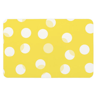 Bright yellow light yellow white spotty pattern rectangle magnets