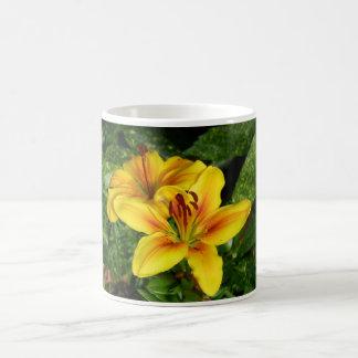 Bright yellow Lilies Mugs